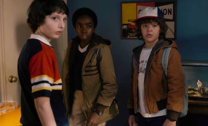 Obsada Stranger Things - Mike, Dustin, Lucas