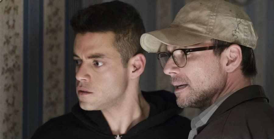 Rami Malek and Christian Slater in Mr Robot season 3