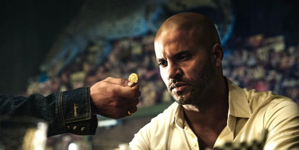 ricky whittle as shadow in american gods