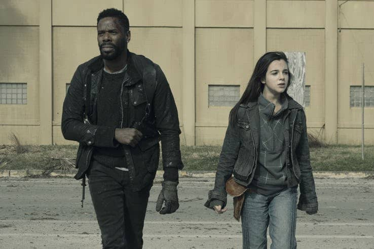 colman domingo as victor strand and alexa nisenson as charlie in fear the walking dead 1