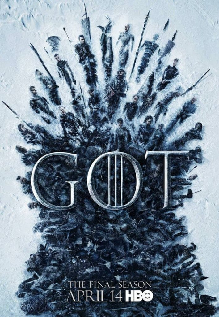 game of thrones season 8 great war poster