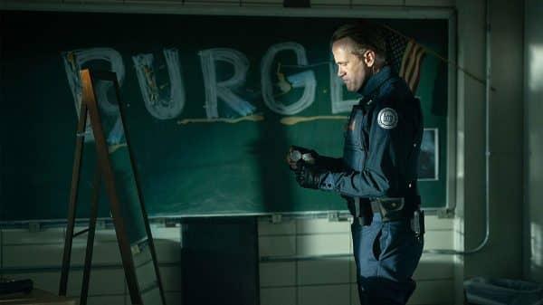 the purge tv show black board purge message