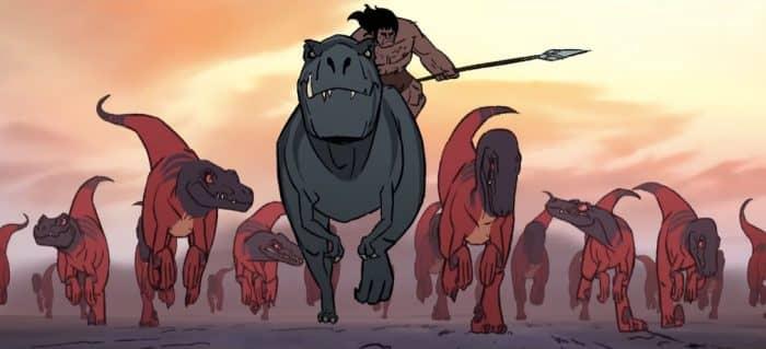 primal caveman trex raptors