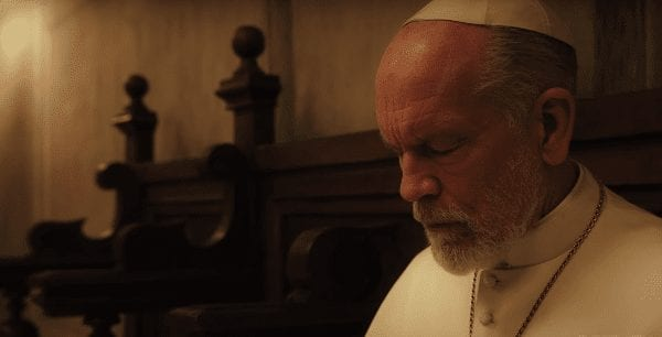 the new pope malkovich eyes closed
