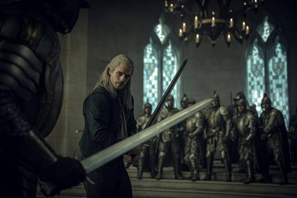 the witcher henry cavill fight hall