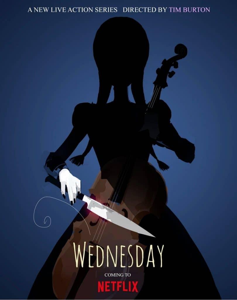 wednesday netflix poster image